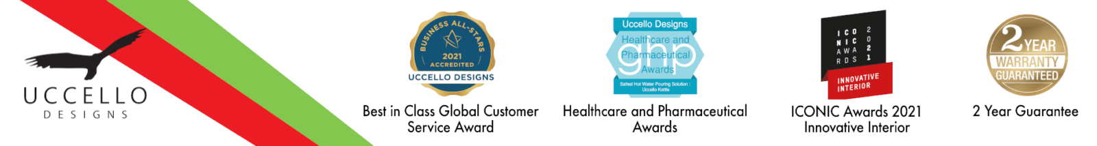 Uccello Designs Awards - Best in Class - Healthcare and Pharmaceutical - ICONIC Innovative Interior - 2 Year Guarantee